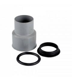 CONECTOR PP de trecere la fonta si garnitura D110 mm- D1 124 mm- Lungime 160 mm