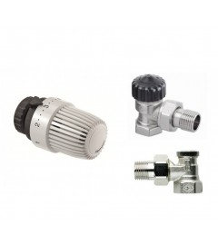 Set robinet termostatat 1/2 + cap termostatat tip S + rob coltar retur HEIMEIER CALYPSO