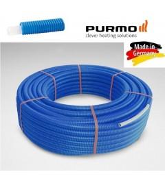 Teava pex Purmo cu bariera de oxigen 16x2 in protectie albastra, colac 100 m