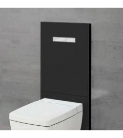 TECE LUX-100 sticla neagra, butoane cromate + placa inferioara neagra
