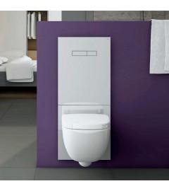 TECE LUX-100 sticla alba, butoane albe + placa inferioara alba - WC standard